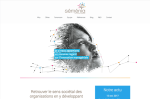 Séménia has chosen Orson.io to create their website