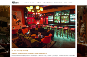 Le Très Honoré Bar has chosen Orson.io to create their website